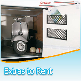 Motorhome Campervan Equipment Extras to rent