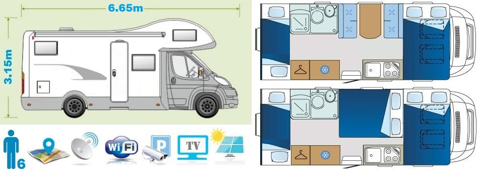 Family class camper floor plan