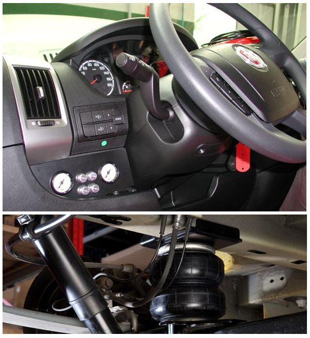 Motorhome Camper Van and Recreation Vehicle (RV) air suspension