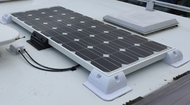 Motorhome Camper Van and Recreation Vehicle (RV) solar panel