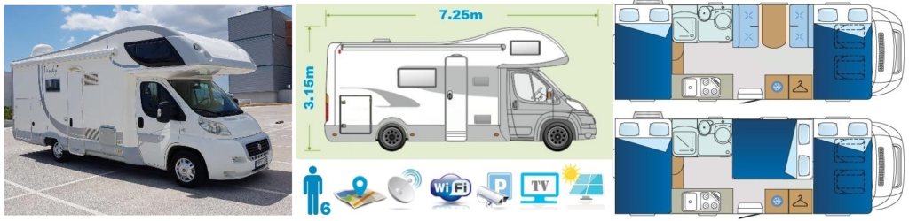 Premium class Motorhome Camper Van and Recreation Vehicle (RV)